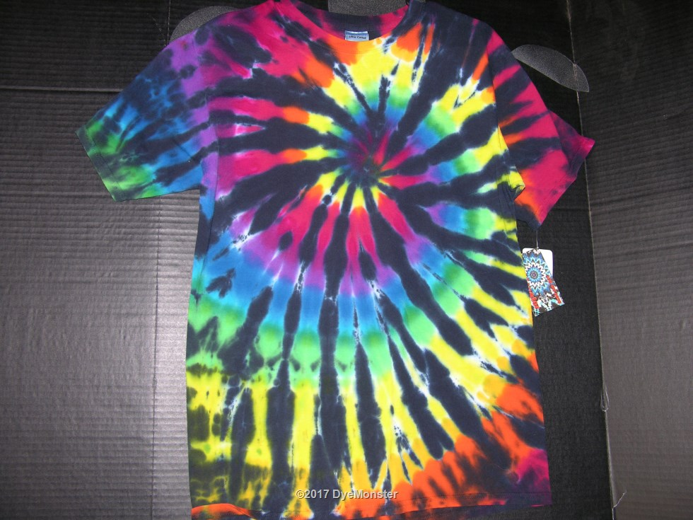 M Stained Glass Spiral Tie-dye