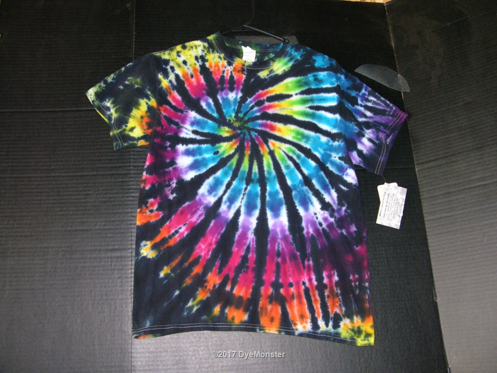 M Stained Glass Spiral tie-dye #3855