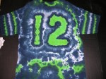 XL 12th Man Football fan tie-dye #3871