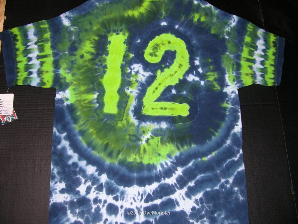 XL 12th Man Football Fan tie-dye #3873