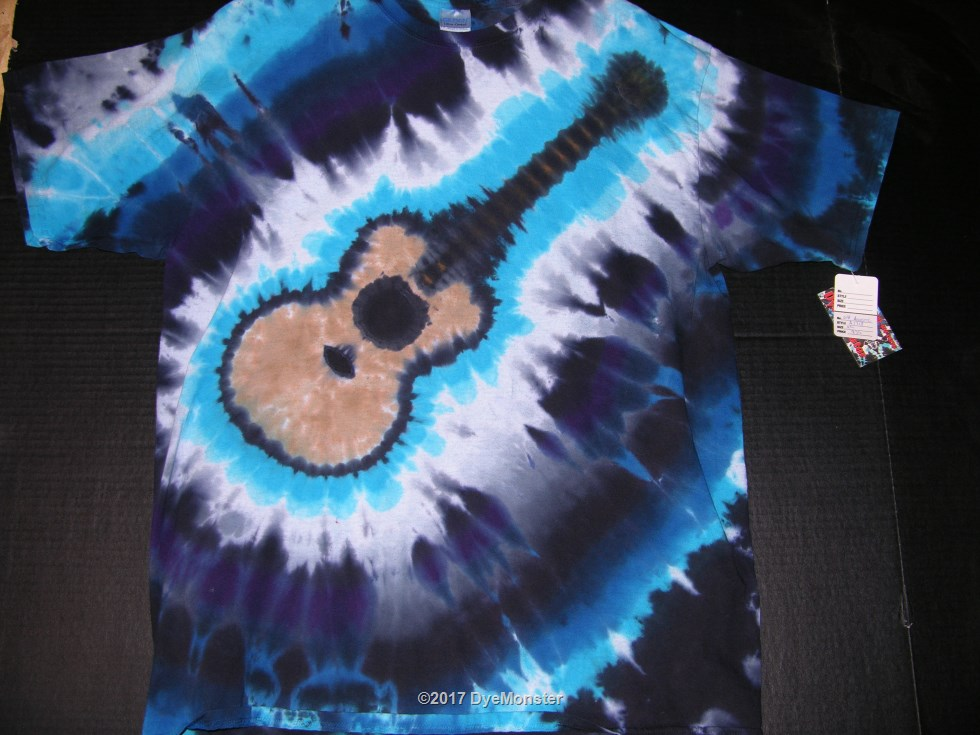 XL Cold Acoustic Guitar tie-dye #3874