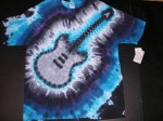 XL Cold Electric Guitar tie-dye #3875