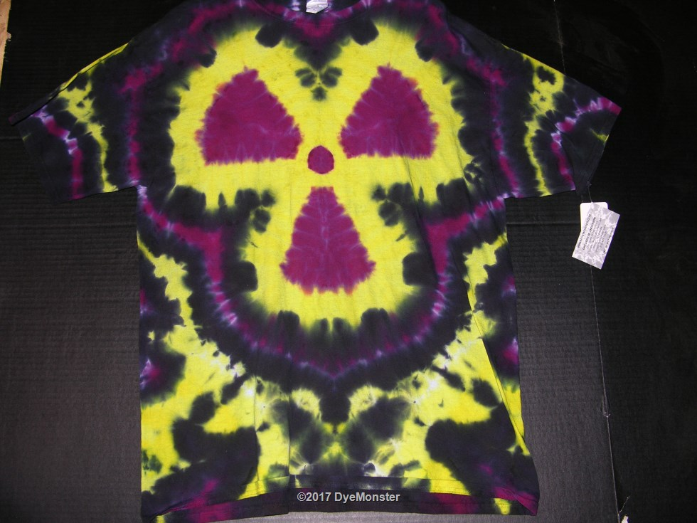 XL Radiation Trefoil Nuke tie-dye #3878