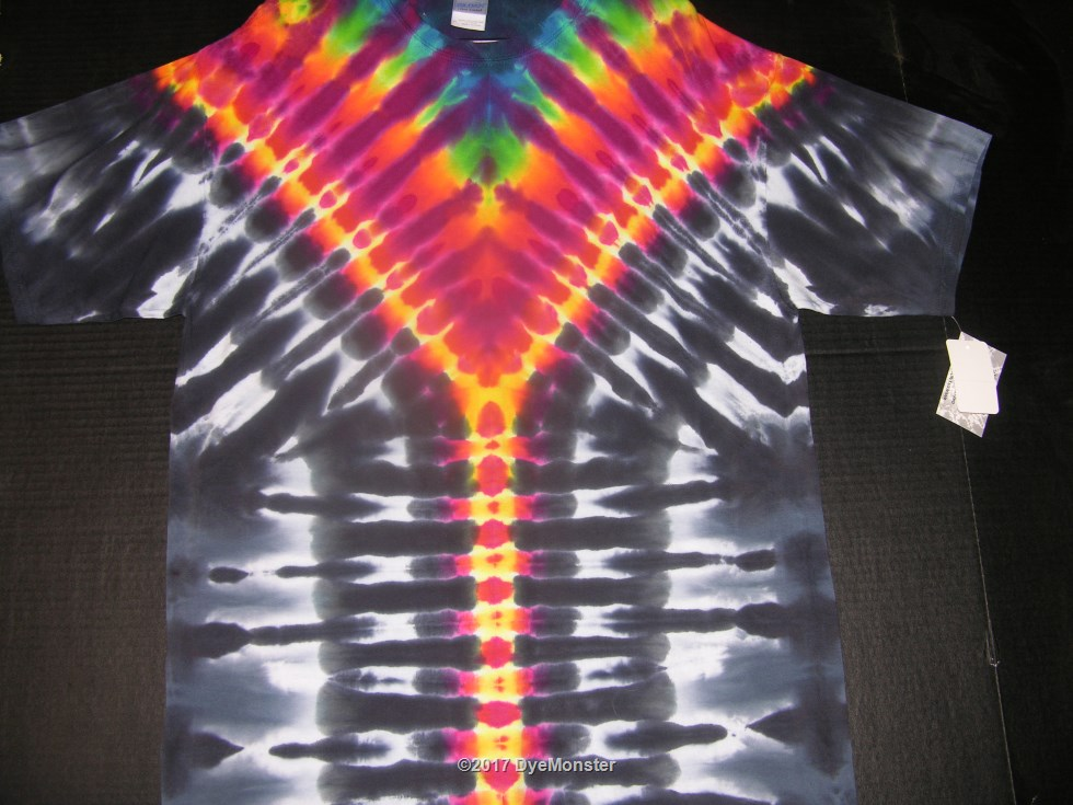 99a0f56c13d6 XL psychedelic zipper tie-dye  3886. unzip your ego and let your spectral  glow flow!