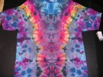 2XL Rainbow Ice Vee OD tie-dye