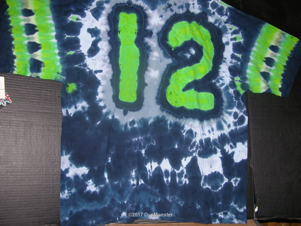 3XL 12th Man Football Fan tie-dye