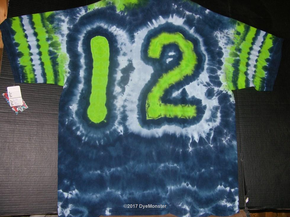 3XL 12th Man Tie Dye