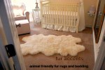 3x5 Faux Fur White Sheepskin Accent Rug Quatro New