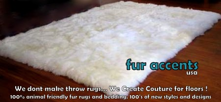 3x5 Plush Faux Fur Sheepskin Rectangle Accent Rug