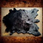 Fur Accents Black Faux Mule Deer Skin Area Rug