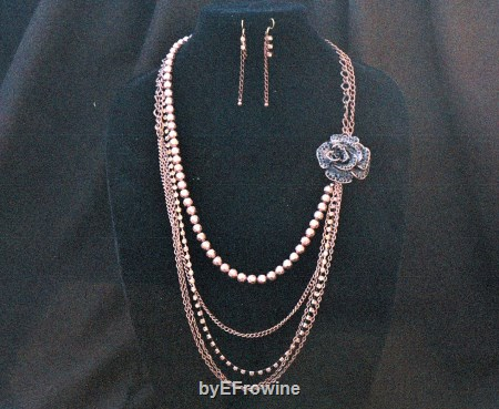 Rose of the Heart Bronze five strand set