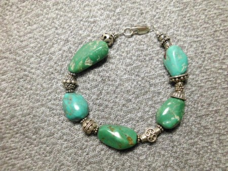 Turquoise and sterling bracelet #1