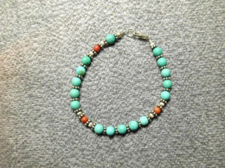 Turquoise and sterling bracelet #3