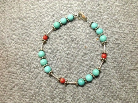 Turquoise and sterling bracelet #4