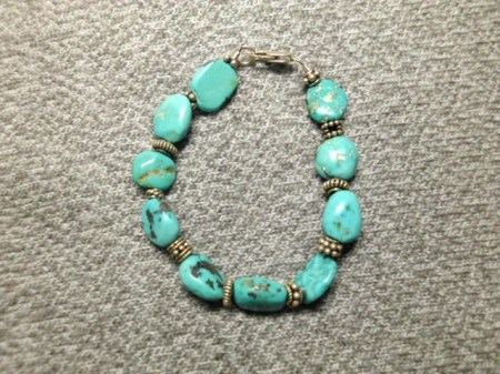 Turquoise and sterling bracelet #5