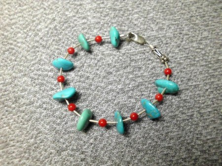 Turquoise and sterling bracelet #6