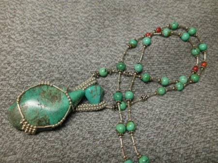 Turquoise and sterling necklace #2