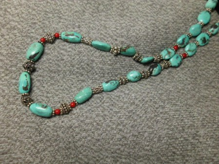 Turquoise and sterling necklace #4