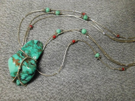 Turquoise and sterling necklace #5.