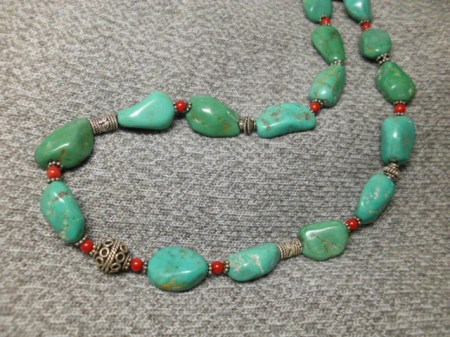 Turquoise and sterling necklace #6.