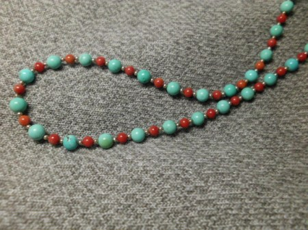 Turquoise and sterling necklace #7