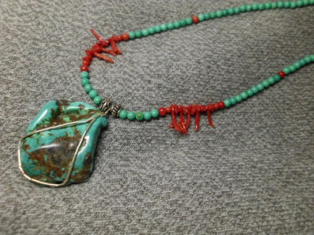 Turquoise and sterling necklace #8