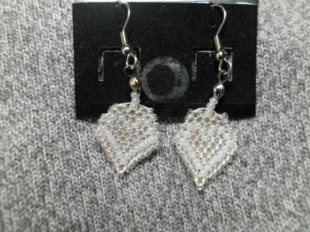 My Beaded Heart earrings #4