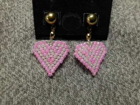 My Beaded Heart  earrings #6