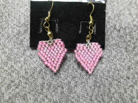 My Beaded Heart earrings #8
