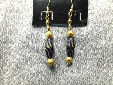 Royal Blue dangle earrings #2