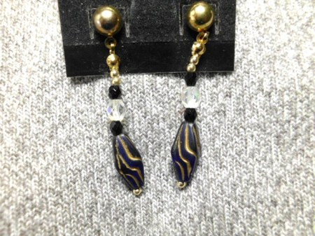 Royal Blue dangle earrings #5