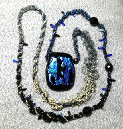 Dichroic Excess necklace