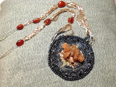 Aragonite star necklace