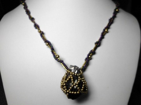 Amethyst and Gold necklace