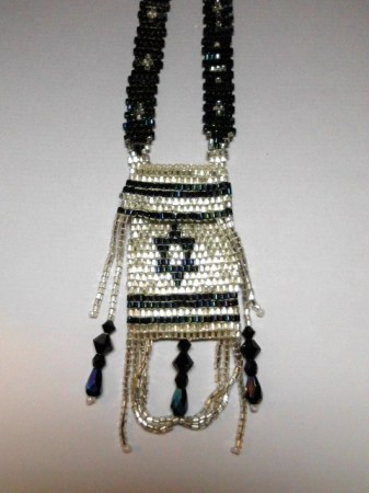 Judaic Amulet bag necklace #1