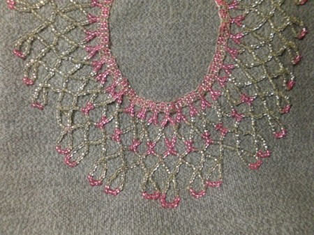 Pink Ice netted collar