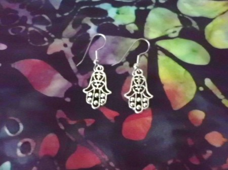 45 mm Hamsa earrings