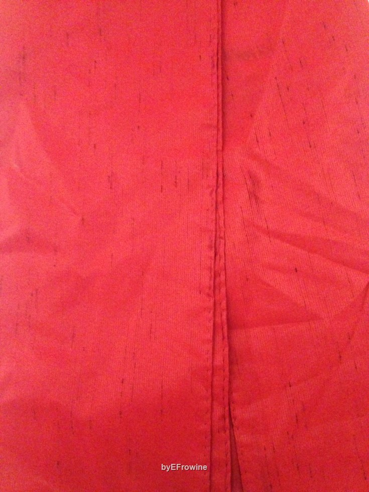 Red Poly-shantung scarf