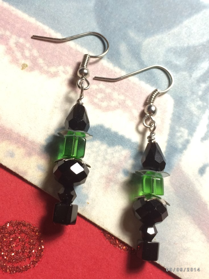 Unique Halloween Witch Beaded Earrings