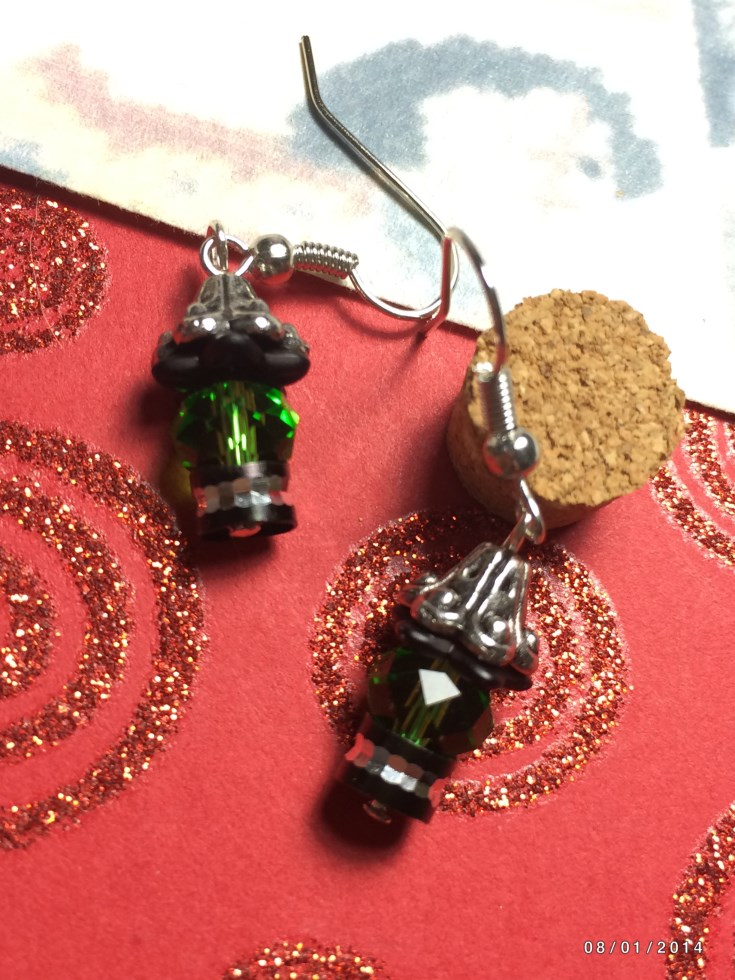 Halloween Witch Head Beaded Earrings