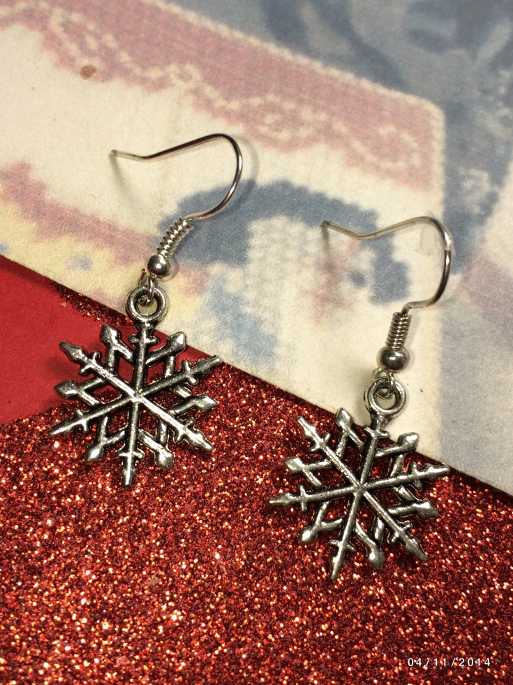 Christmas Snow Flake Earrings & European Charm