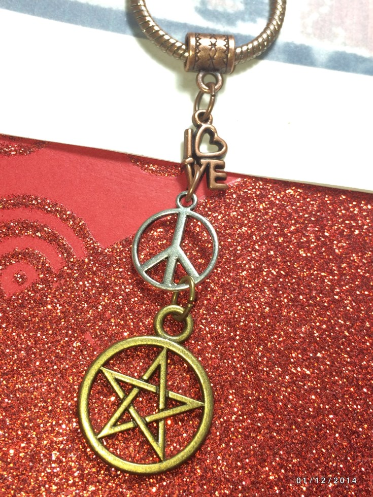Love Peace Pentacle Charm