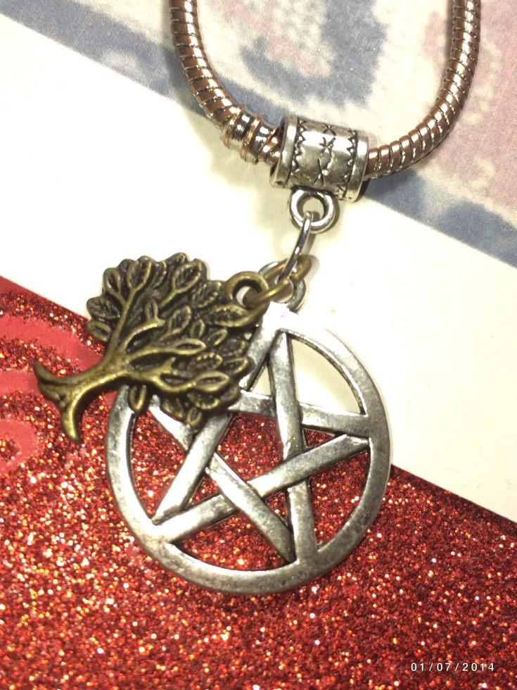 Silver Pentacle Tree Of Life Charm