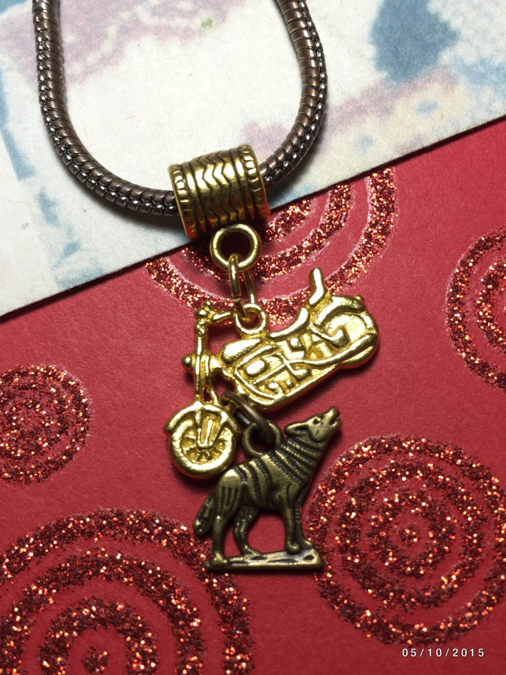 Twilight Wolf & Motorcycle Charm