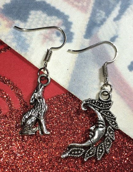 Twilight Howling Moon Earrings