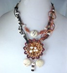Boho Style Necklace with Pearls and Gemstone