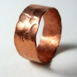 Hammered Copper Band Ring