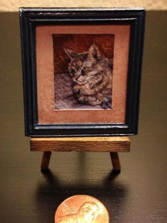 Pet Portrait-Miniature Custom Horse-Dog-Cat