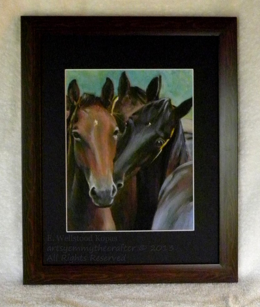 Horse Painting-Yearling Fillies-Original Art