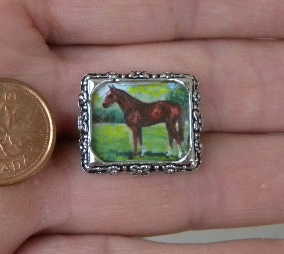 Miniature Painting SECRETARIAT THOROUGHBRED Horse